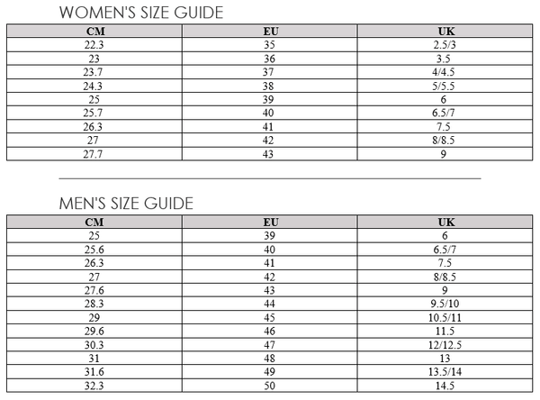 Ecco Sizing Guide