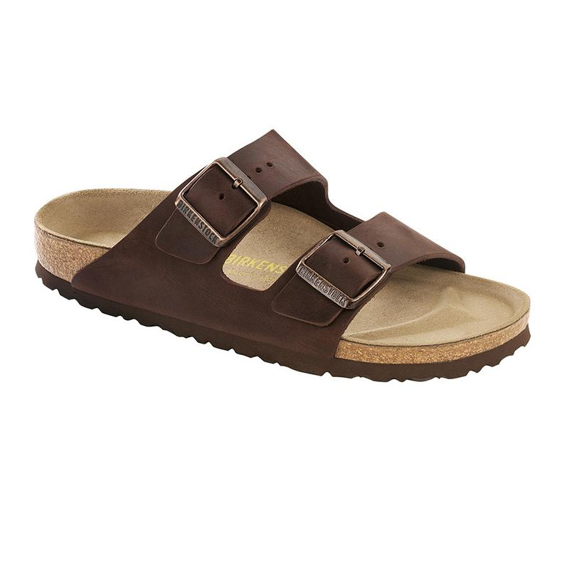 Arizona Oiled Leather (Regular Width) Slides Birkenstock