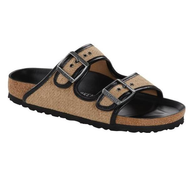 Arizona TEX Nature Jute (Regular width) Slides Birkenstock