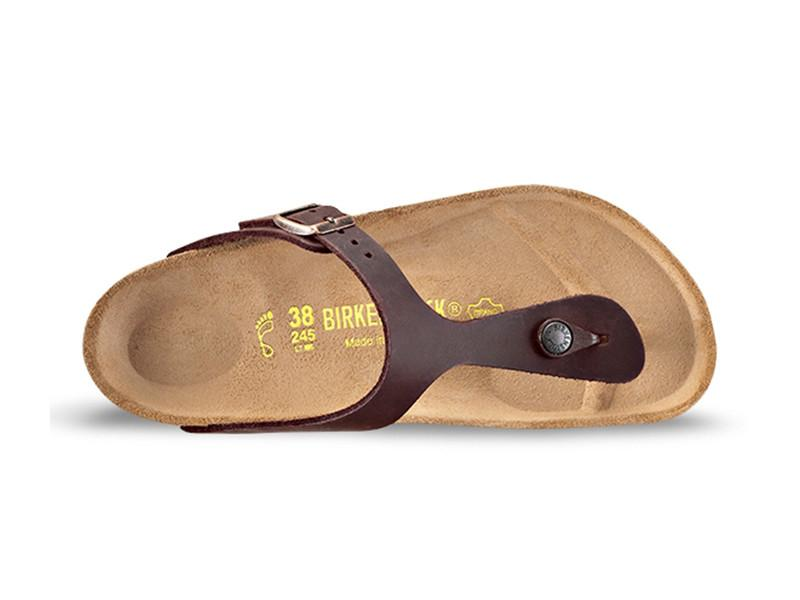 Gizeh NU Oiled Leather (Regular Width) Slides Birkenstock