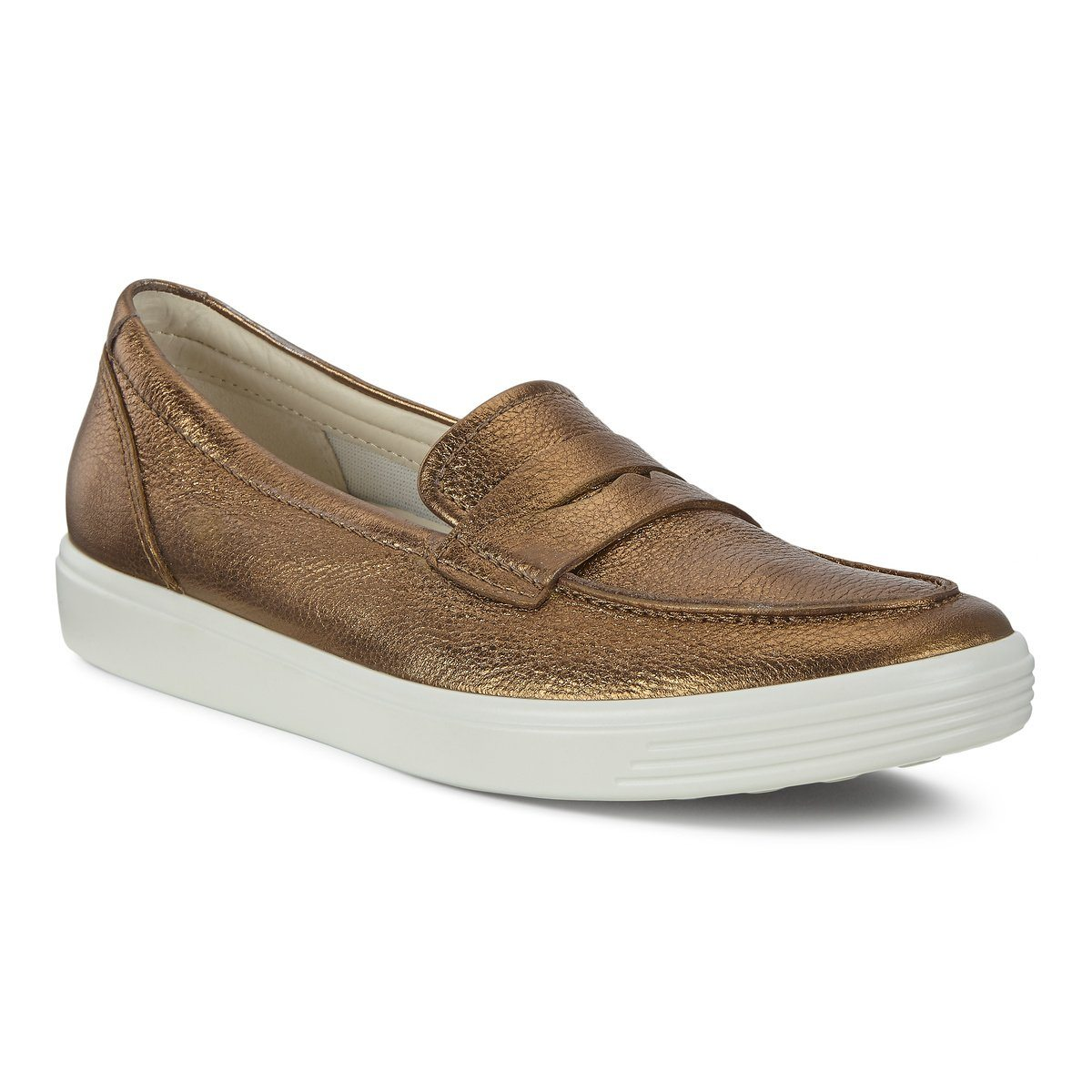 Soft 7 Slip on - Womens - Bronze Lyra Metallic Active Leisure ECCO