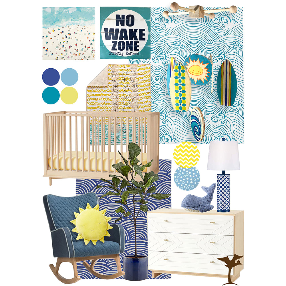 Baby Room Inspiration | Ocean Themed Nursery for Baby Boy
