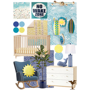 Baby Room Inspiration || Ocean Themed Nursery for Baby Boy