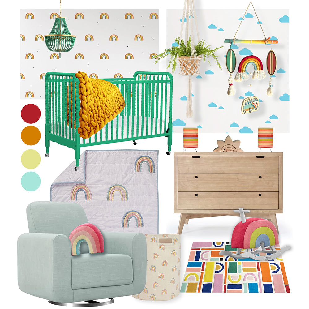 Baby Room Inspiration || Rainbow Themed Nursery - Gender Neutral Nursery Ideas