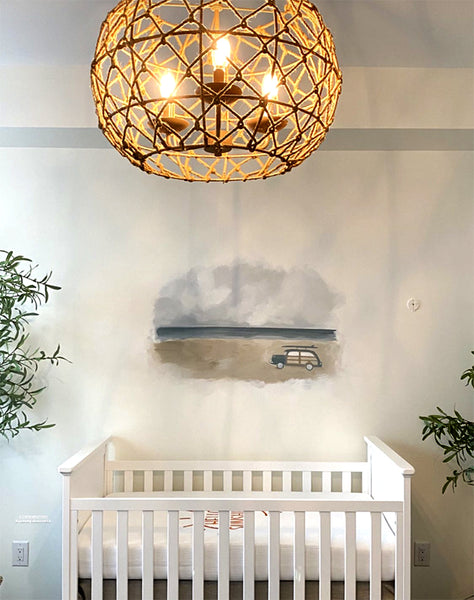 boho beach nursery decor for a baby boy