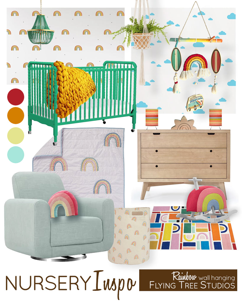 Baby Room Inspiration for a Rainbow Themed Nursery