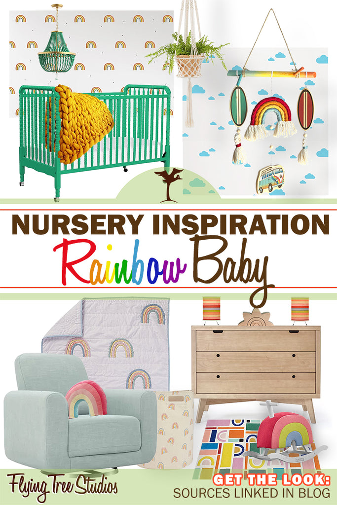 baby room inspiration for a gender neutral rainbow themed nursery