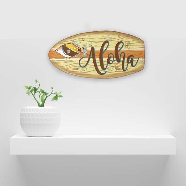 wooden surfboard sign personalized with any name