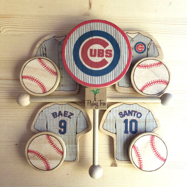 Chicago Cubs Baseball Baby Mobile