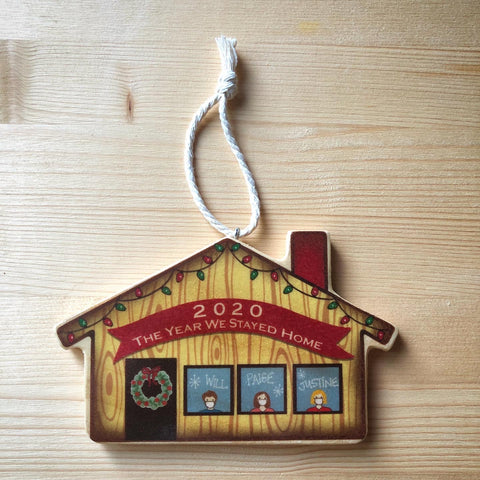 The Year We Stayed Home Christmas Tree Ornament - COVID19 Pandemic - 2020 Holiday Series
