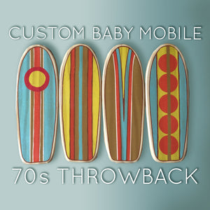 70s THROWBACK - Custom Surfboard Baby Mobile