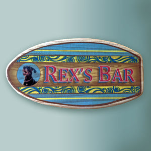 personalized surfboard sign with photo