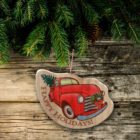Vintage Chevy Truck Christmas Tree Ornament