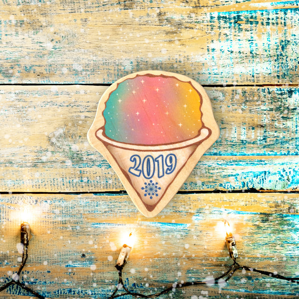 rainbow shave ice personalized ornament