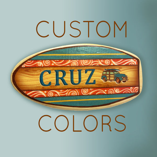 customized surfboard artwork