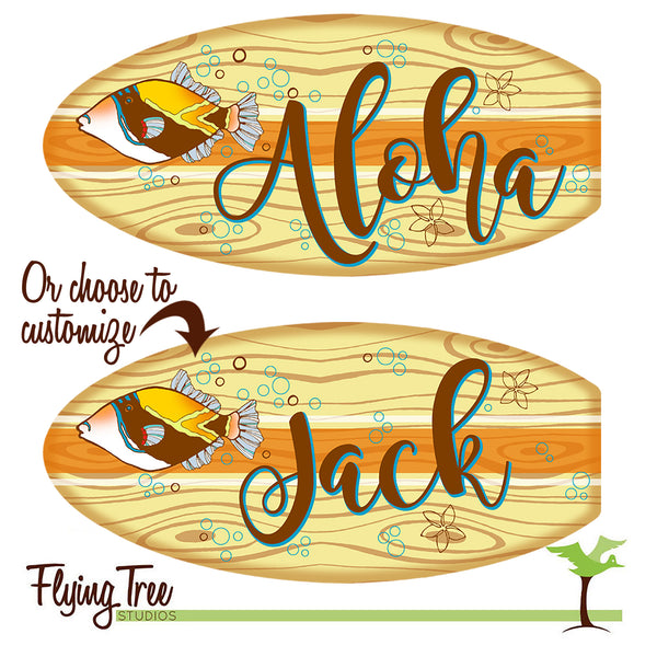 personalized surfboard gift for a teacher or coworker