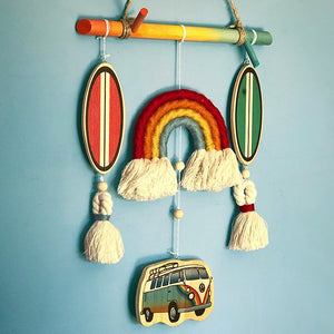 Beautiful Handmade Wall Hanging for a Beach or Surf Themed Baby Room