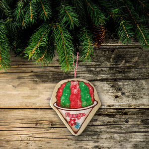 Holiday Shave Ice Christmas Tree Ornament