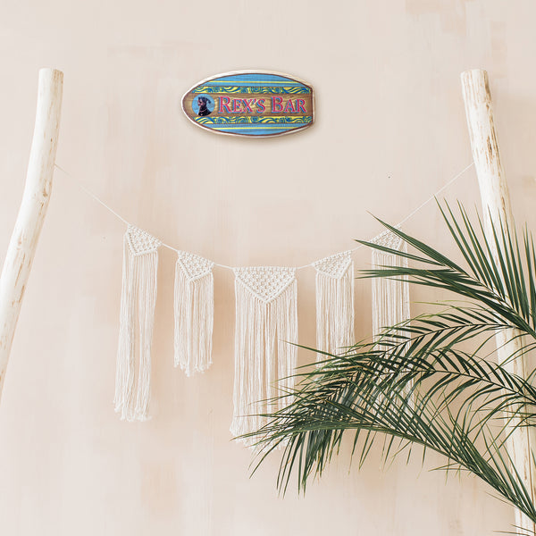 surf decor wall sign for a beach themed room