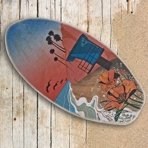 surfboard art beach wall decor
