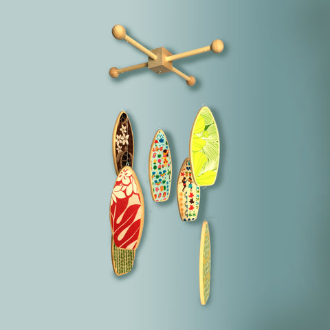HAWAIIAN PATCHWORK - Surfboard Baby Mobile