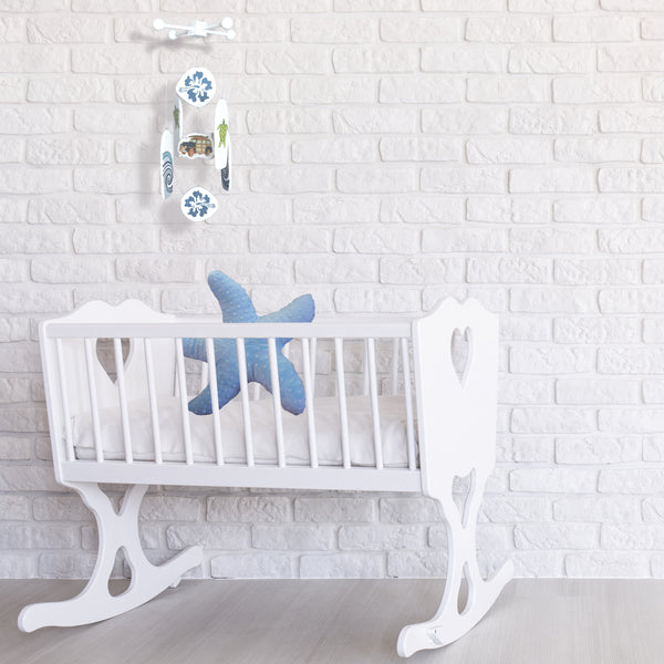a baby mobile for a beach inspired baby nursery