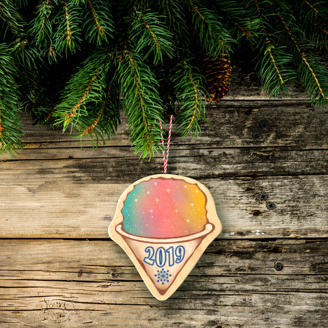 shave ice christmas tree ornament