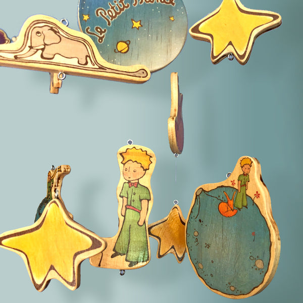 Wooden Baby Mobile with The Little Prince Planet