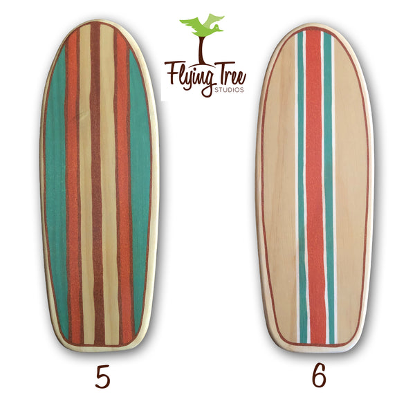 Wooden Surfboard Art Set
