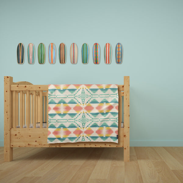 Wooden Surfboard Wall Decor Set