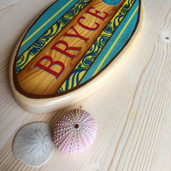 Personalized Surfboard Wall Decor