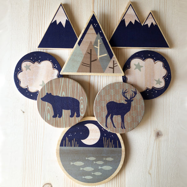 woodland theme nursery for baby boy or baby girl