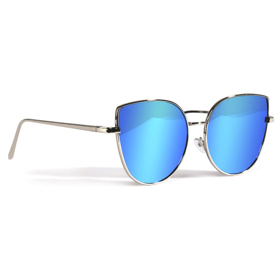 Blue Mirrored Cat Eye Sunnies