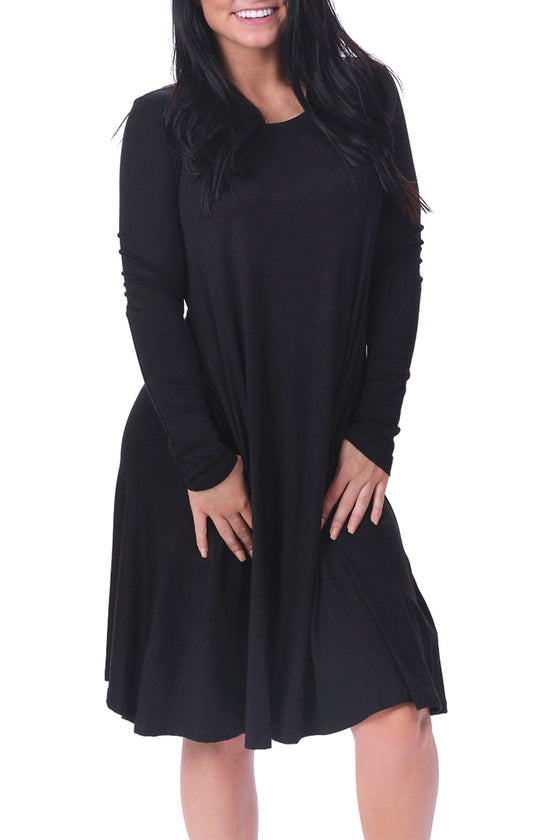 Black Classic Long Sleeve Dress