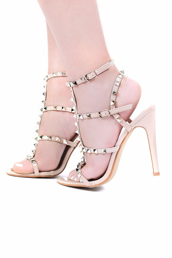 Champagne on the Rocks Strap Heels