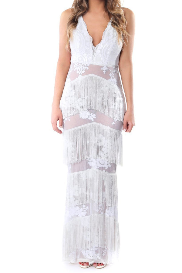 White Lace Maxi Dress