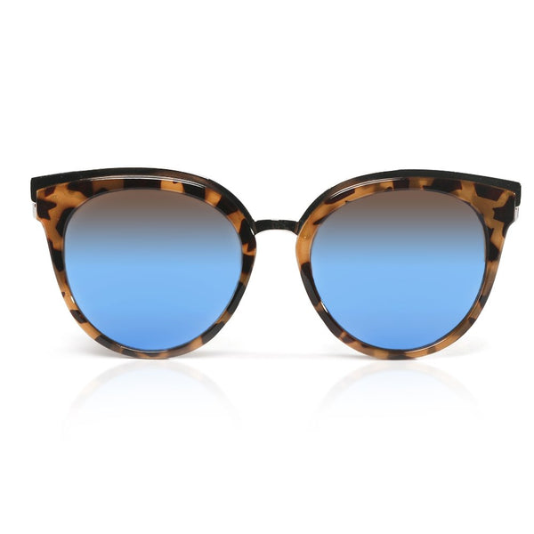 Dark Tortoise Winged Sunglasses