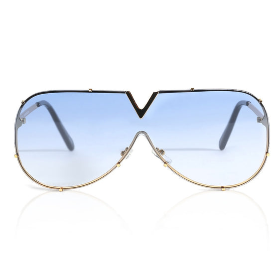 Blue Clubmaster Sunglasses