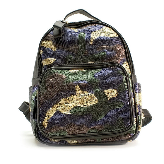 Sequin Camo Backpack