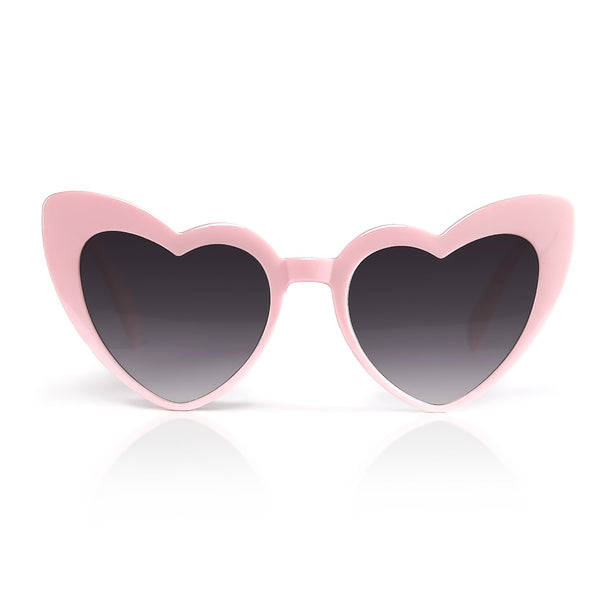 Pink Heart-Shaped Sunglasses