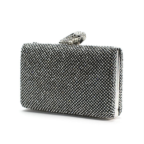 Black Rhinestone Clutch