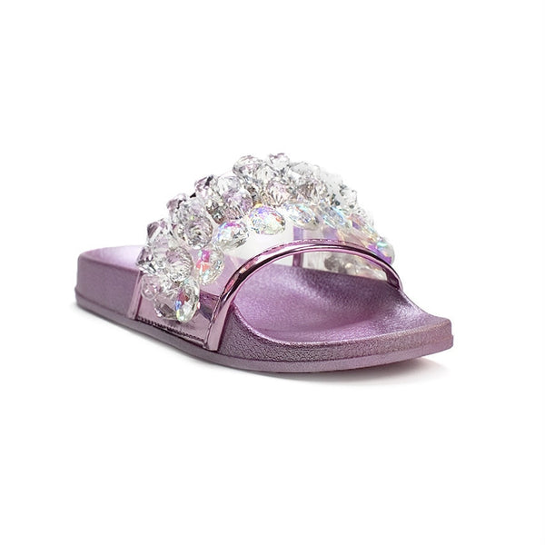 Neon Crystal Sandals