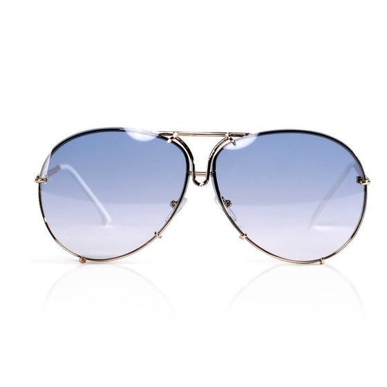 Light Blue Aviator Sunglasses