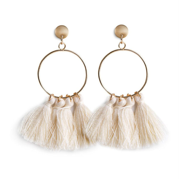 Natural Fan Tassel Earrings