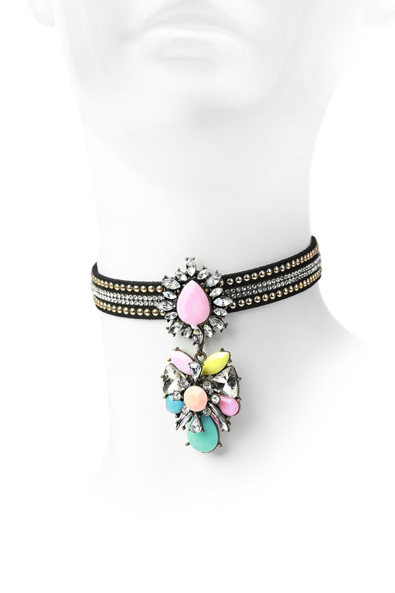 Multi-Color Choker Pendant