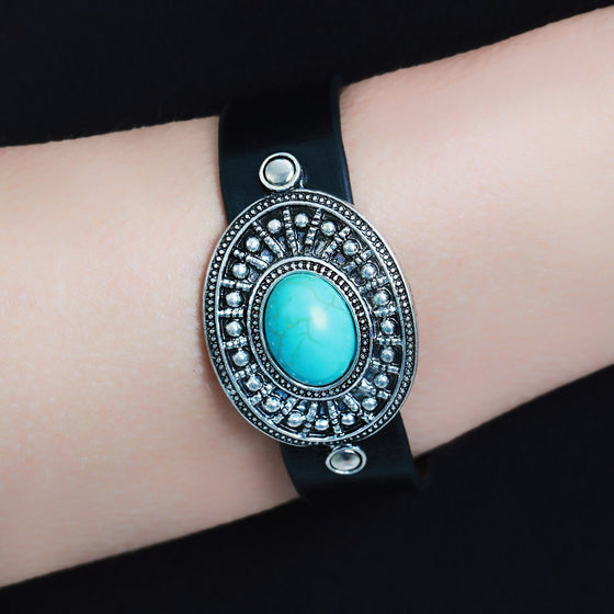 Turquoise Stone Cuff
