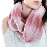 Pink Ombre Fur Infinity Scarf