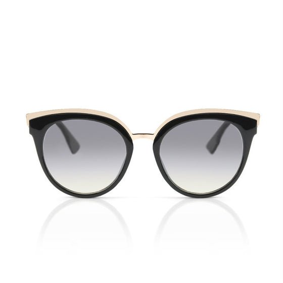 Black and Gold Winged Sunglasses