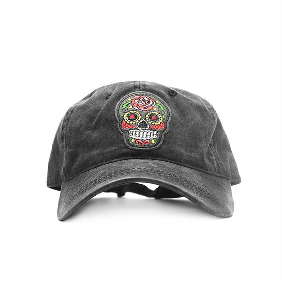 Black Sugar Skull Cap
