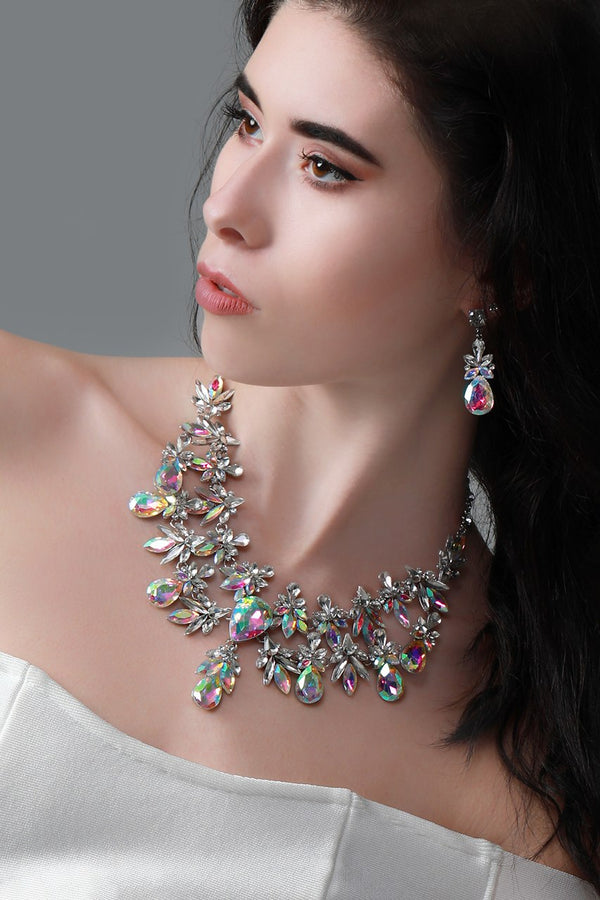 Jeweled Statement Necklace Set